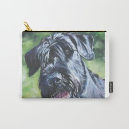 Giant Schnauzer Dog Portrait Art from an original painting by L.A.Shepard Carry-All Pouch