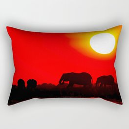 Elephant evening - Africa wildlife Rectangular Pillow
