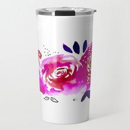 Three Purple Christchurch Roses Travel Mug