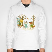 spring Hoodies featuring Critters: Spring Dancing by Teagan White