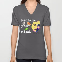 Reclaim Your Mind | Psychedelic Terence McKenna Unisex V-Neck
