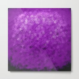 Purple Spray Paint Abstract Metal Print