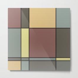 Minimalist Abstract Squares 1 Metal Print
