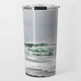 Explosive Green Surf of the St-Lawrence Travel Mug