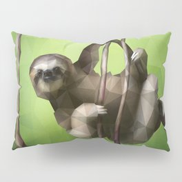 Sloth (Low Poly Lime) Pillow Sham