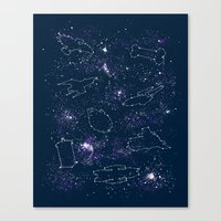 ships Canvas Prints featuring Star Ships by Mandrie