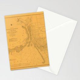 Map of Buffalo 1856 Stationery Cards