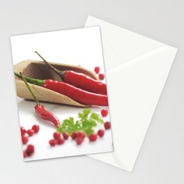 Hot chili and hot pepper Stationery Cards