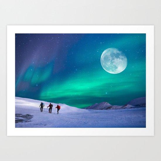 Night walkers Art Print