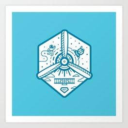 Birthplace of Aviation - Blue Art Print