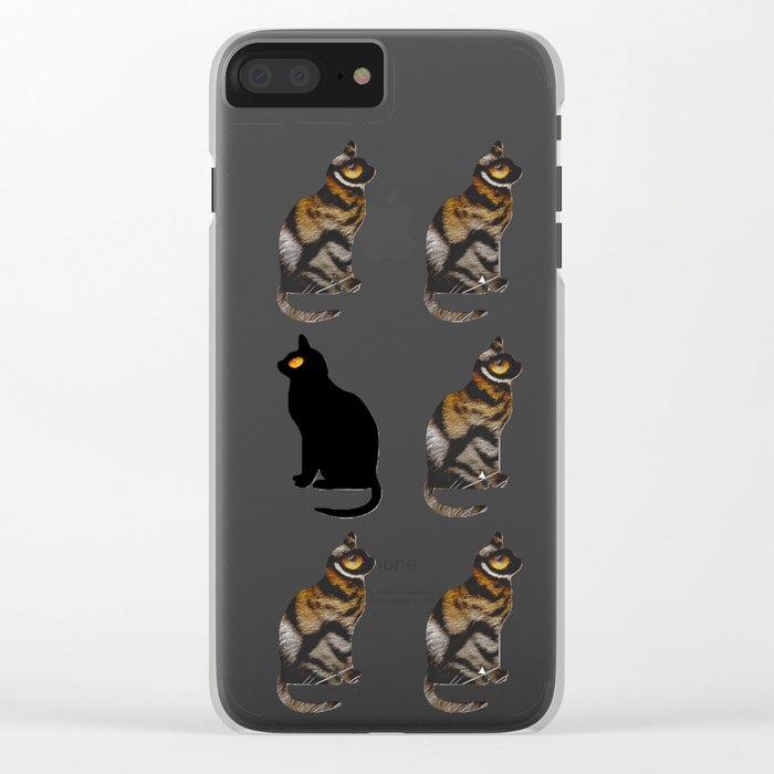 PURRSONAL SPACE CATTERN Clear iPhone Case