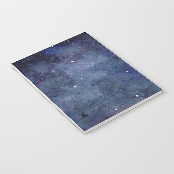Night Sky Stars Galaxy | Watercolor Nebula Notebook
