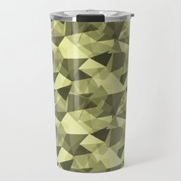 Abstract Geometrical Triangle Patterns 4 VA Lime Green - Lime Mousse - Bright Cactus Green - Celery Travel Mug