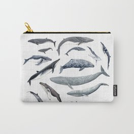 Whales all around Carry-All Pouch