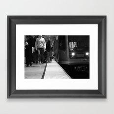 San Francisco Muni in Black and White Framed Art Print