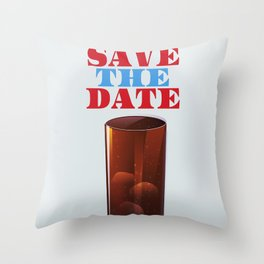 Save the date vintage soda ad. Throw Pillow
