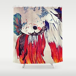 Siamese Fighting Fish Shower Curtain