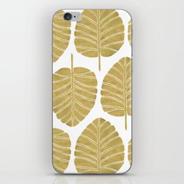 Elephant Ear Alocasia – Gold Palette iPhone Skin