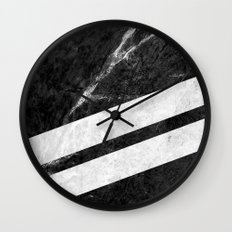 Black Striped Marble Wall Clock