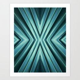 Emerald, abstract. Art Print