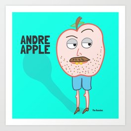 Andre Apple Art Print