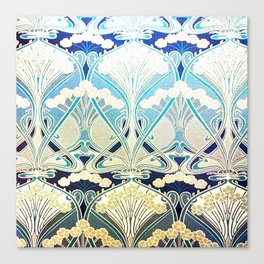 silver art nouveau Canvas Print