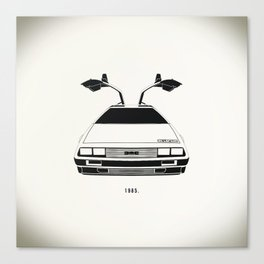 Delorean DMC 12 / Time machine / 1985 Canvas Print