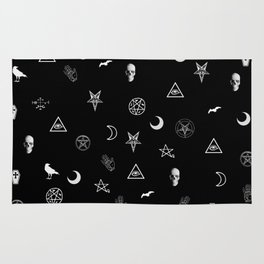 Goth Symbols Pattern Rug