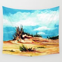 dune Wall Tapestries featuring Carolina Dune by Marta Lopez Teigeiro