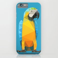 Low Poly Blue and Gold Macaw Slim Case iPhone 6s