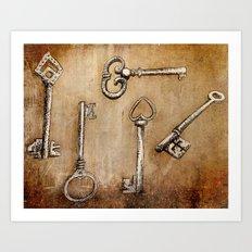 Keys Art Print