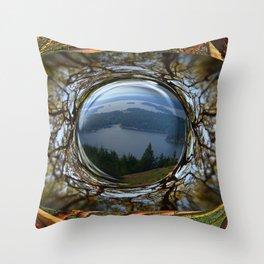 THE EYE OF TURTLEBACK MOUNTAIN Throw Pillow