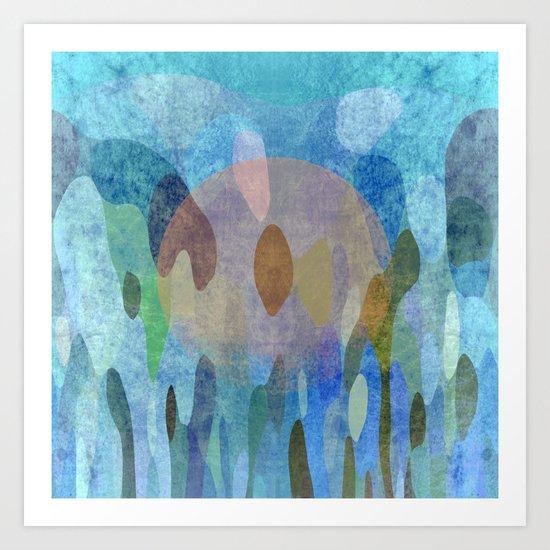 Sunrise in my garden Art Print
