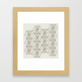 Qbic Framed Art Print