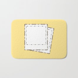 Two polaroids Bath Mat