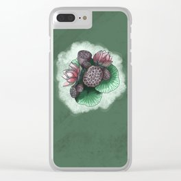 Lotus Flower and Seed Clear iPhone Case