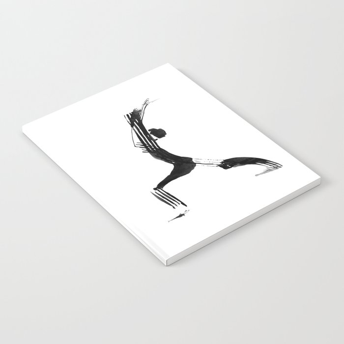 Moder Black And White Minimalist Ink Figure Yoga Drawing Yoga