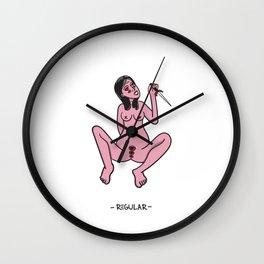 A Girl Darkside Wall Clock