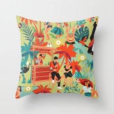 Resort living Throw Pillow