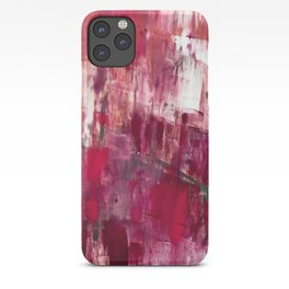 Sunset in the Valley [2]: a colorful abstract piece in reds, pink, gold, gray, and white iPhone Case