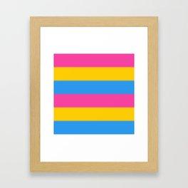 Pansexual Pride Flag v2 Framed Art Print