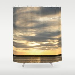 Seaside Sunset 01 Shower Curtain