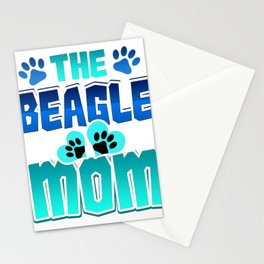 Beagle Mom Dog Mom Beagle Lover Stationery Cards
