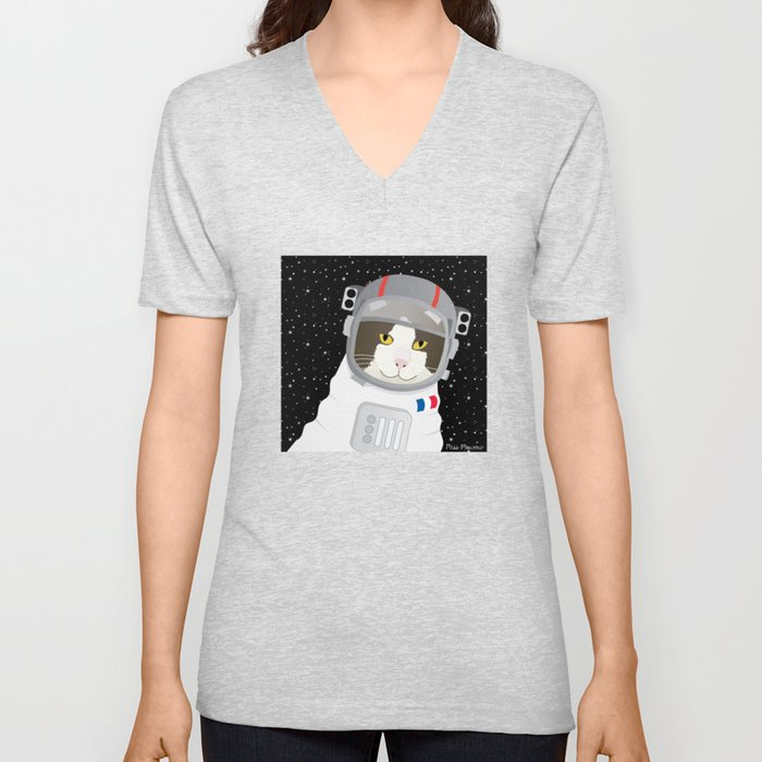 1963: France Blasted the First Cat into Outer Space Unisex V-Neck