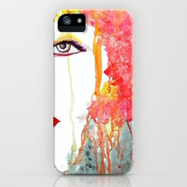 Angry Girl iPhone Case