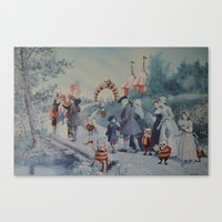 thegnarledbranch Canvas Prints featuring Goblin Fair by TheGnarledBranch