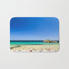 The beach of Chia su Giudeu, Sardinia Bath Mat