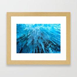 Ice Stalactites Framed Art Print