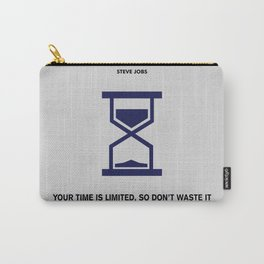 Lab No. 4 - Time Is Limited Steve Jobs Famous Life Inspiring Motivational Quotes Poster Carry-All Pouch