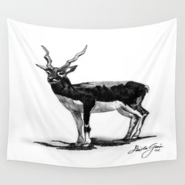White-eared Kob Wall Tapestry
